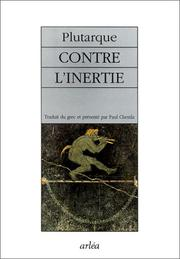 Cover of: Contre l'inertie