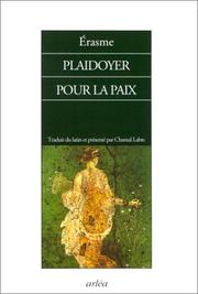 Cover of: Playdoyer pour la paix