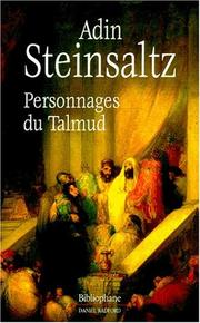 Cover of: Personnages du Talmud