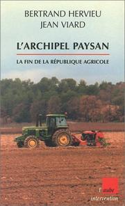 Cover of: L'Archipel Paysan