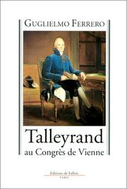 Cover of: Talleyrand ay congrès de Vienne, 1814-1815