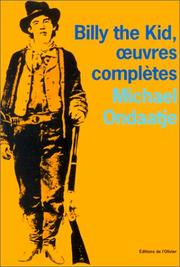 Cover of: Billy the Kid, oeuvres complètes