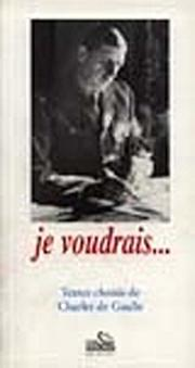 Cover of: Je voudrais