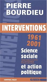 Cover of: Interventions politiques 1964 - 2000