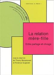 Cover of: La Relation mère-fille