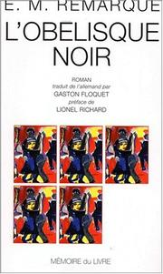 Cover of: L'obélisque noir
