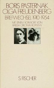 Cover of: Briefwechsel 1910 - 1954 Pasternak / Freudenberg.