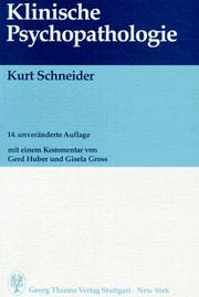 Cover of: Klinische Psychopathologie.