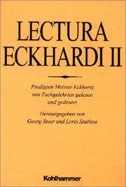 Cover of: Lectura Eckhardi 2.