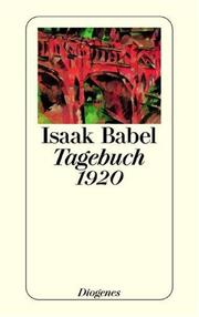 Cover of: Tagebuch 1920