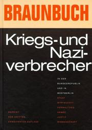 Cover of: Braunbuch.
