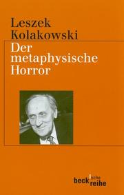 Cover of: Der metaphysische Horror