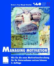 Cover of: Managing Motivation.