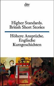 Cover of: Higher Standards. British Short Stories (1945-1980).