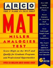 Cover of: MAT, Miller analogies test