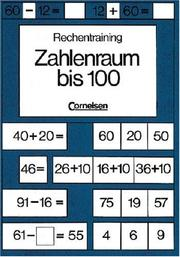 Cover of: Rechentraining, Zahlenraum bis 100