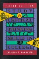 Cover of: Study and critical thinking skills in college