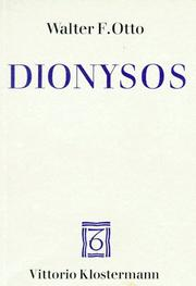 Cover of: Dionysos, Mythos und Kultus