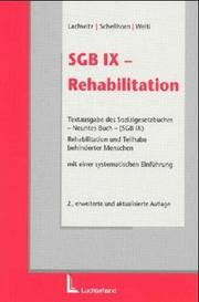 Cover of: SGB IX - Rehabilitation.
