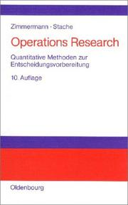 Cover of: Operations Research. Quantitative Methoden zur Entscheidungsvorbereitung.