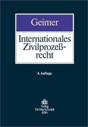 Cover of: Internationales Zivilprozeßrecht.