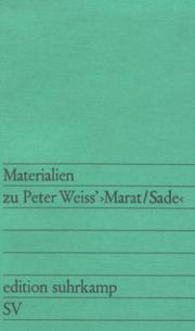 Cover of: Materialien zu Peter Weiss, Marat / Sade.