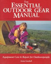 Cover of: The essential outdoor gear manual