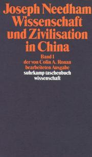 Cover of: Wissenschaft und Zivilisation in China I.