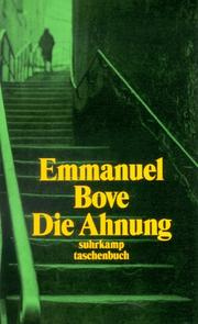 Cover of: Die Ahnung.