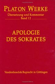 Cover of: Platon, Bd.1/2: Apologie des Sokrates
