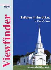Cover of: Viewfinder Topics, Religion in the U.S.A.
