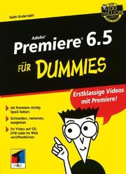 Cover of: Adobe Premiere 6.5 Fur Dummies