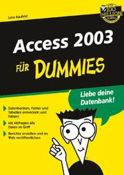Cover of: Access 2003 Für Dummies