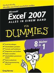 Cover of: Excel 2007 Für Dummies, Alles in Einem Band
