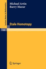 Cover of: Etale Homotopy (Lecture Notes in Mathematics)