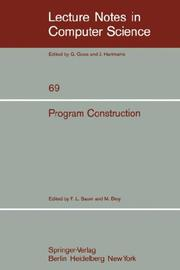 Cover of: Program Construction