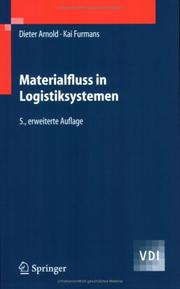 Cover of: Materialfluss in Logistiksystemen (VDI-Buch)