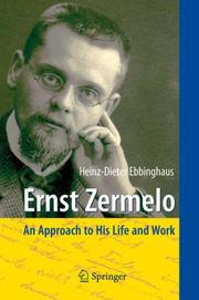 Cover of: Ernst Zermelo