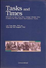 Cover of: Tasks and Times