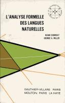 Cover of: L' analyse formelle des langues naturelles