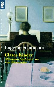 Cover of: Claras Kinder. Erinnerungen.