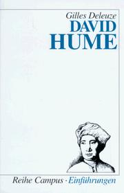 Cover of: David Hume.