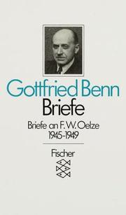 Cover of: Briefe II/1 an F. W. Oelze 1945 - 1949.