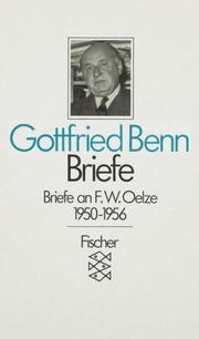 Cover of: Briefe II/2 an F. W. Oelze 1950 - 1956.