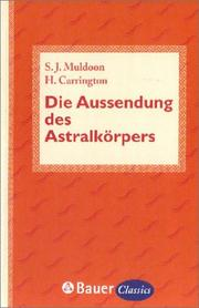 Cover of: Die Aussendung des Astralkörpers.