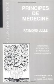 Cover of: Principes de médecine