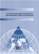 Cover of: Duty and Quota-Free Access for Ldcs: Further Evidence from Cge Modeling