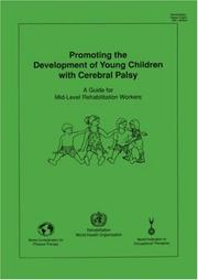 Cover of: Promoting the Development of Young Children with Cerebral Palsy