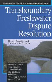 Cover of: Transboundary Freshwater Dispute Resolution
