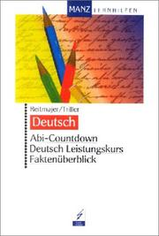 Cover of: Abi-Countdown, Deutsch Leistungskurs
